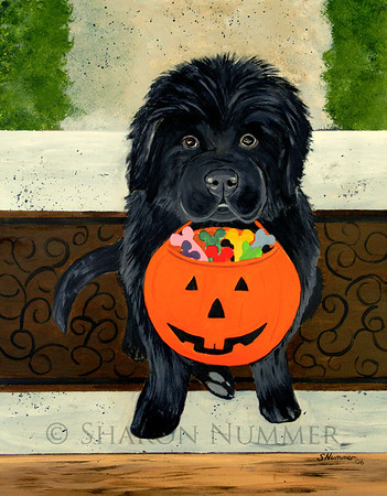 """Trick Or Treat""""  © 2006 Acrylic on Panel. Original painting is sold."""